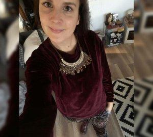 Pepe Jeans Pulli Pullover Jumper Nicki Samt Velvet Bordeaux Burgundy