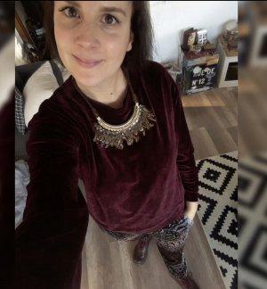 Pepe Jeans Pulli Pullover Nicki Samt Jumper Bordeaux M