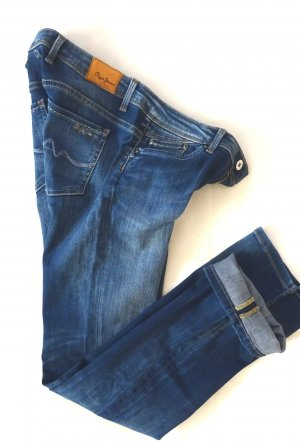 Pepe Jeans Straight Leg Jeans blue mixture fibre