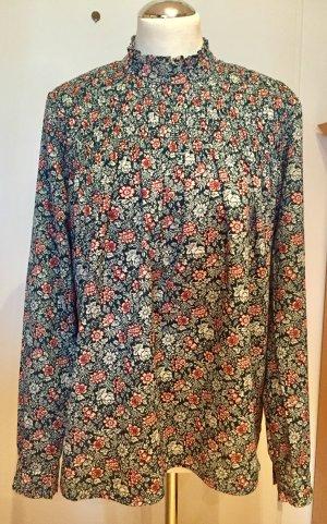 Pepe Jeans: Raffinierte bügelfreie Bluse mit Blumenmuster Gr. M wie Neu