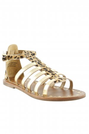 Pepe Jeans Riemchen-Sandalen goldfarben-braun Animalmuster Casual-Look