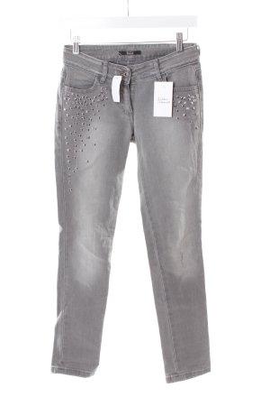 Pepe Jeans Röhrenjeans grau Used-Optik