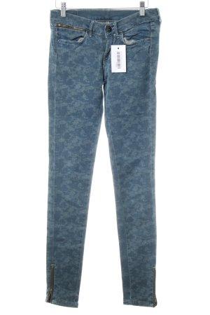 Pepe Jeans Röhrenjeans kornblumenblau-blassblau Camouflagemuster