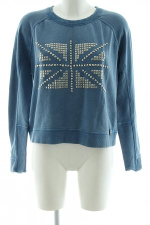 Pepe Jeans Rundhalspullover blau Casual-Look
