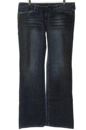 Pepe Jeans Broek met wijd uitlopende pijpen donkerblauw Jaren 70 stijl