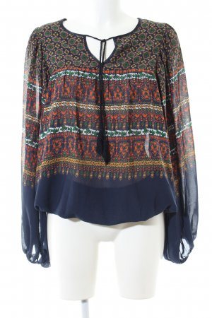 Pepe Jeans Schlupf-Bluse abstraktes Muster Casual-Look