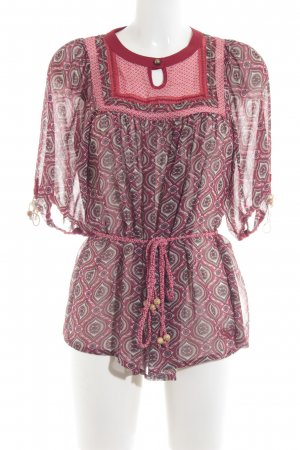 Pepe Jeans Schlupf-Bluse abstraktes Muster Beach-Look
