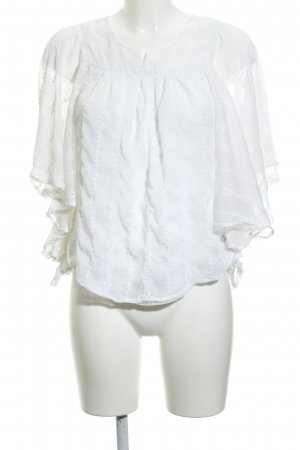 Pepe Jeans Slip-over Blouse white romantic style
