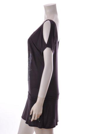 Pepe Jeans Seventy Three Oversize Shirt Off-Shoulder aubergine Gr. S UNGETRAGEN
