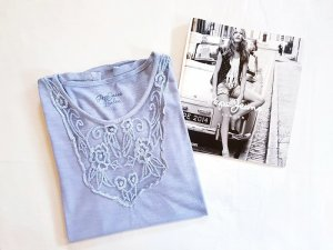 Pepe Jeans shirt himmelblau original Größe S/36