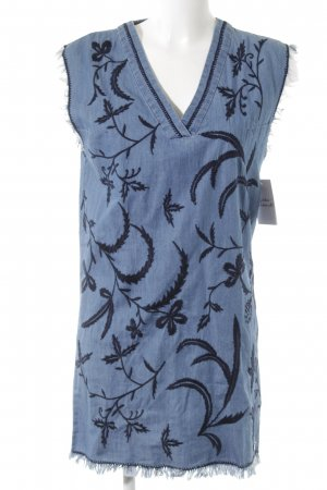 Pepe Jeans Shirt Dress dark blue-cornflower blue floral pattern beach look