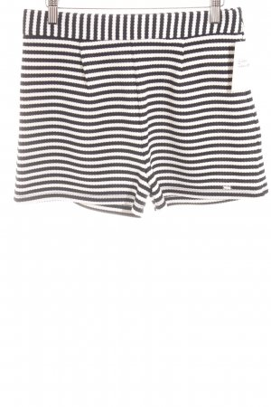 Pepe Jeans Shorts schwarz-weiß Streifenmuster Casual-Look