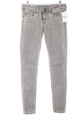 Pepe Jeans Skinny Jeans grau abstraktes Muster Casual-Look