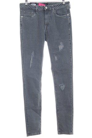 Pepe Jeans Skinny Jeans grau-dunkelblau Streifenmuster extravaganter Stil