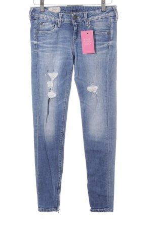 Pepe Jeans Skinny Jeans kornblumenblau Used-Optik
