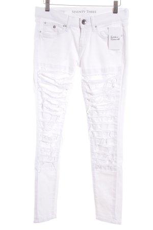 Pepe Jeans Skinny Jeans weiß Destroy-Optik