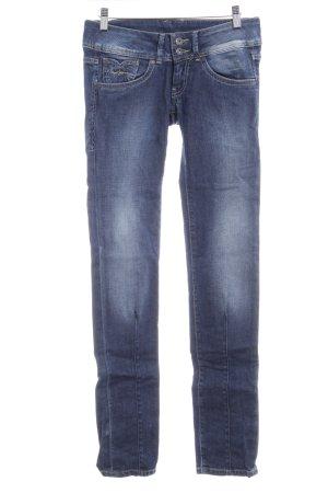 Pepe Jeans Skinny Jeans wollweiß-dunkelblau Washed-Optik