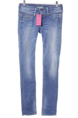 Pepe Jeans Slim Jeans blau Schriftzug gedruckt Casual-Look