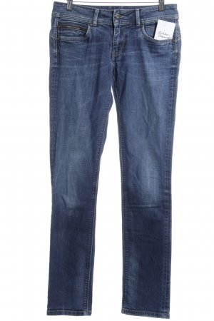 Pepe Jeans Slim Jeans blau-wollweiß Washed-Optik