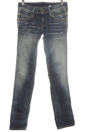 Pepe Jeans Slim Jeans dunkelblau-hellgelb Casual-Look