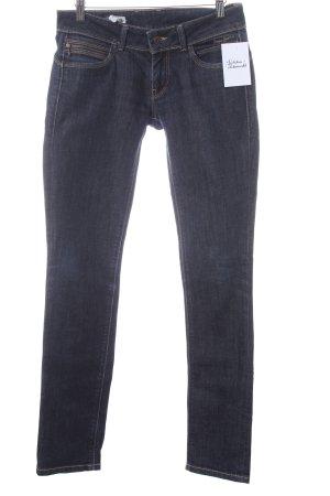 Pepe Jeans Slim Jeans dunkelblau Logo-Applikation