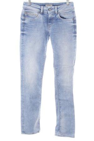 Pepe Jeans Slim Jeans himmelblau-kornblumenblau Bleached-Optik