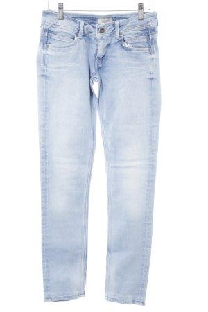 Pepe Jeans Slim Jeans himmelblau-weiß Casual-Look