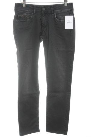 Pepe Jeans Slim Jeans schwarz Biker-Look