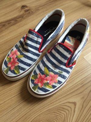Pepe Jeans Slipper Schuhe Sneaker Gr.41 neu Sommer marine maritim Blumen Slip On