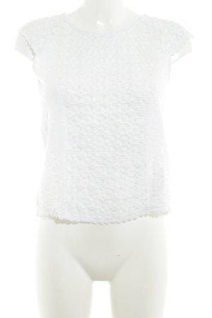 Pepe Jeans Kanten topje wit Boho uitstraling