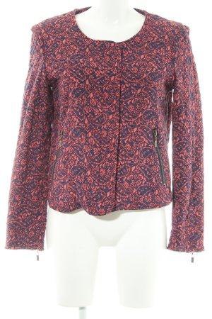 Pepe Jeans Gewatteerd jack rood-donkerblauw bloemen patroon Boho uitstraling