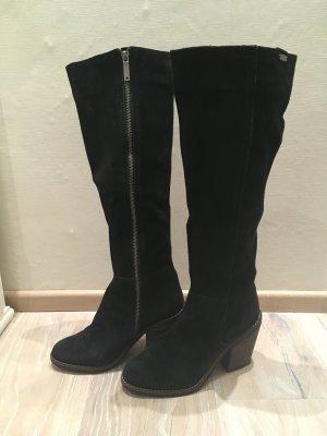 Pepe Jeans Stiefel schwarz Leder Wildleder Gr. 37