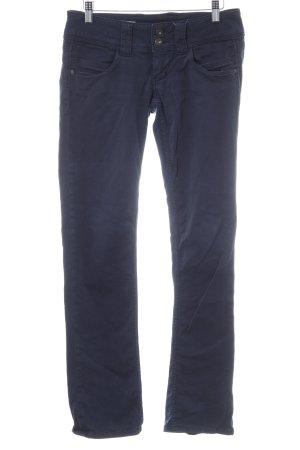 Pepe Jeans Stoffhose dunkelblau Casual-Look
