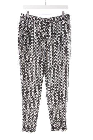 Pepe Jeans Stoffhose schwarz-weiß grafisches Muster