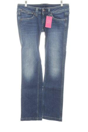 Pepe Jeans Straight-Leg Jeans neonblau Casual-Look