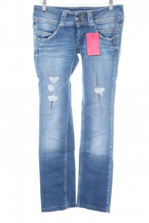 Pepe Jeans Straight-Leg Jeans blau Street-Fashion-Look