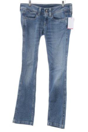 Pepe Jeans Jeans met rechte pijpen blauw casual uitstraling