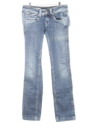 Pepe Jeans Straight-Leg Jeans blau meliert Washed-Optik