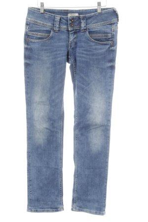 Pepe Jeans Straight-Leg Jeans blau Used-Optik