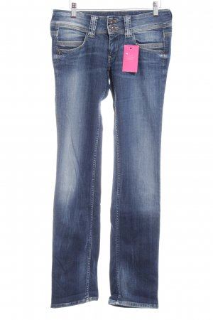 Pepe Jeans Straight-Leg Jeans blau Used-Optik
