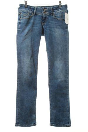 Pepe Jeans Straight-Leg Jeans blau-wollweiß Washed-Optik