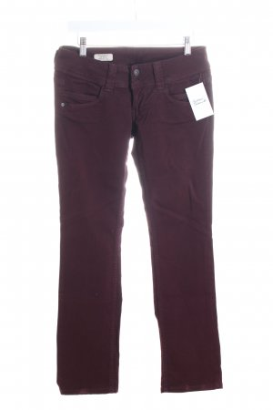 Pepe Jeans Straight-Leg Jeans bordeauxrot Casual-Look
