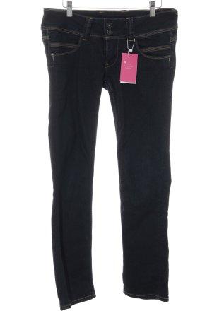 Pepe Jeans Jeans a gamba dritta blu scuro stile casual