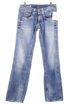 Pepe Jeans Jeans coupe-droite bleu foncé coton