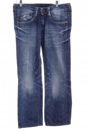 Pepe Jeans Straight-Leg Jeans dunkelblau Destroy-Optik