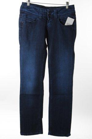 Pepe Jeans Straight-Leg Jeans dunkelblau-schwarz meliert Casual-Look