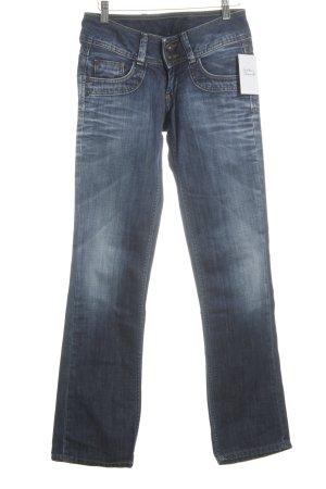 Pepe Jeans Straight-Leg Jeans dunkelblau Street-Fashion-Look