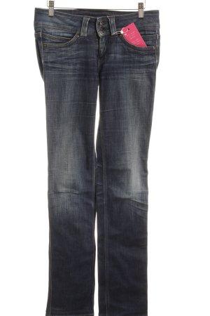 Pepe Jeans Jeans met rechte pijpen donkerblauw gewassen uitstraling