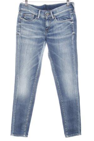 Pepe Jeans Straight-Leg Jeans graublau-wollweiß Destroy-Optik