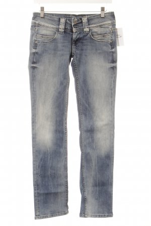 Pepe Jeans Straight-Leg Jeans hellblau Washed-Optik